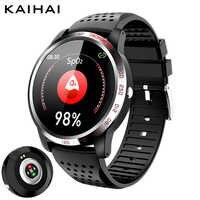 Reloj inteligente con cronómetro y alarma de frecuencia cardíaca para iphone android, con monitor de oxígeno en la sangre y SpO2 ECG + HRV + SpO2