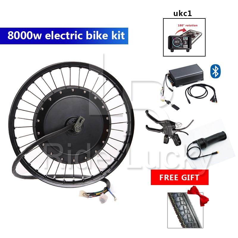 super power 48v-72v 8000W e bike kit motorcycle QS motor wheel with waterproof Sabovon controller TFT display