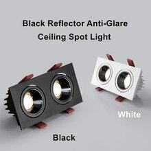 [DBF]2020 Nouveau Double Tête De Réglage D'angle LED Encastré Downlight Dimmable 14W 24W Lumière De Tache De Plafond 3000K/4000K/6000K Maison Allée