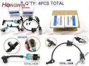 Image 2 - 4pcs One Set ABS Wheel Speed Sensor Fits Pontiac Chevrolet Equinox Captiva Saturn Opel 2007 2013 96626078, 96626080