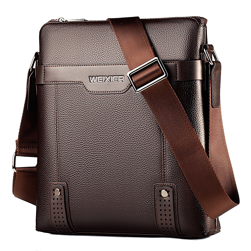 Retro Luxury Brand Designer Shoulder Bags For Men Business Small Briefcase Casual Satchels Collage Crossbody Book Bag Male