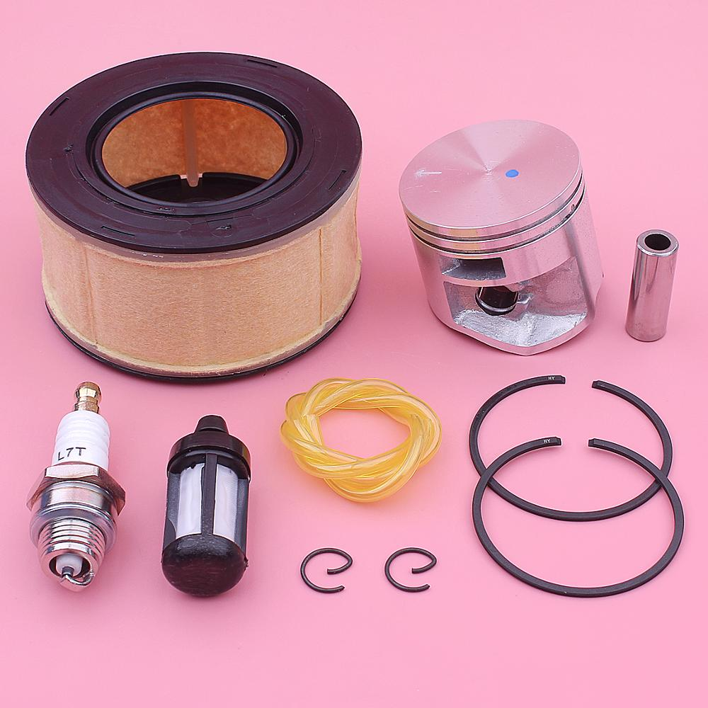 44mm Piston Air Fuel Filter Line Kit For Stihl MS251 MS 251 Chainsaw 1143 030 2007, 1141 120 1600 W Pin Rings Circlip Spark Plug