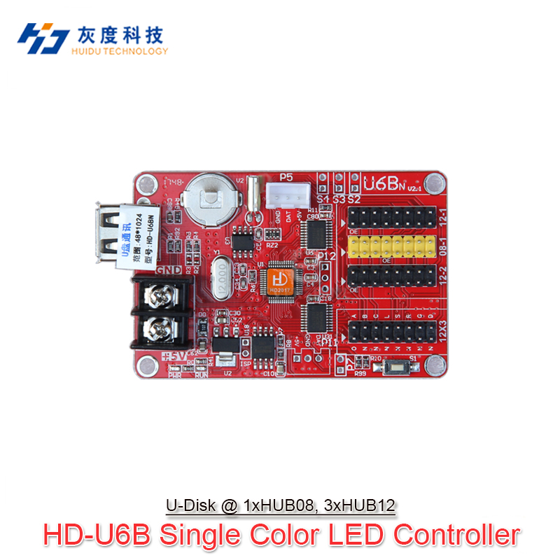 U6B(before A40k) HD-U6B P10 Single And Dual Color Led Panel Controller Support 1024*48,cheapest Control