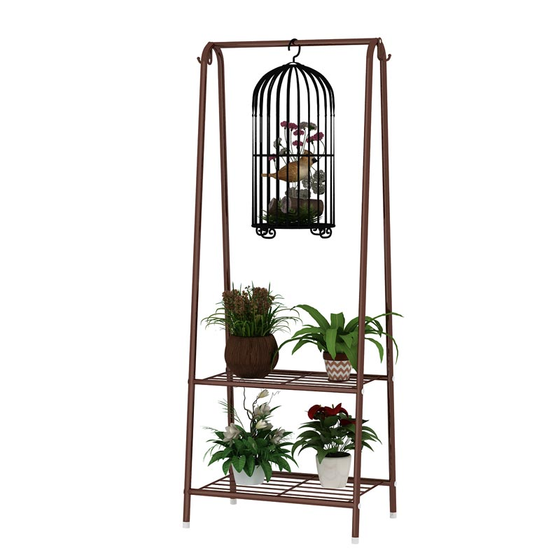 Living Room Multi-level Floor Hanging Orchid Stand Hanging Multi-function Rack Flower Stand Balcony Wrought Iron