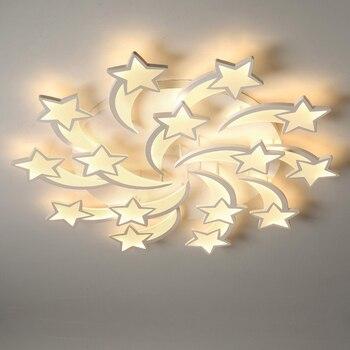 Moderno led lustre de teto lustres iluminação com controle remoto para sala estar quarto cozinha interior crianças lustre