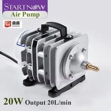SUNSUN ACO-001 20W 20L/Min elektryczna magnetyczna pompa powietrza z zaworem zwrotnym kamień napowietrzający fajka wodna dla domowe akwarium hodowla ryb