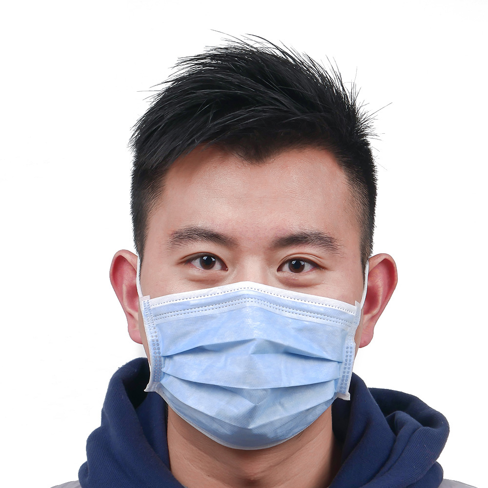 Disposable Protective Mask 3 Layers Dustproof Facial Protective Cover Prevent Bacteria Anti-virus Mask