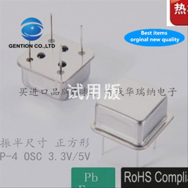 5pcs 100% New And Orginal OSC Active In-line Crystal Low Frequency 500K 500KHZ 500.000KHZ DIP-4 Zhongzheng 4 Pins