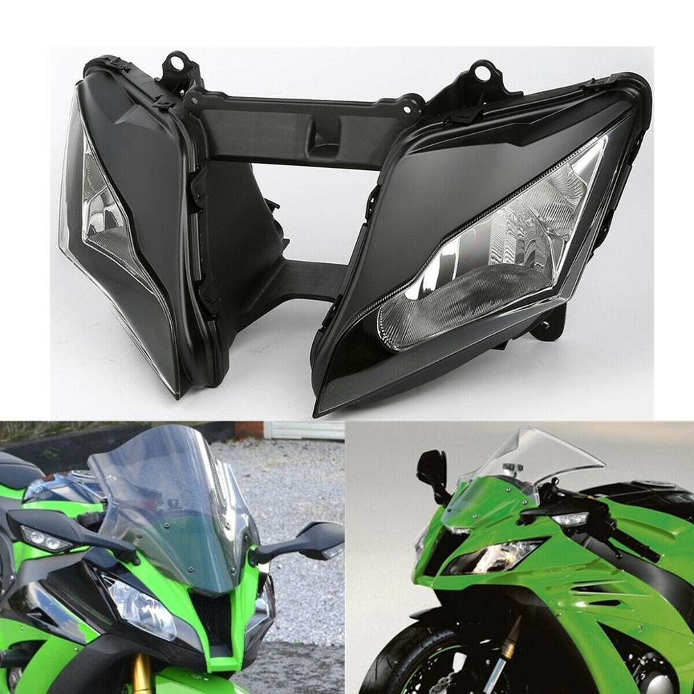 Motorcycle Headlight Black Front Head Lights Lamp Assembly Clear Lens For Kawasaki Ninja ZX10R ZX-10R ZX 10R 2011-2015 2012 2014