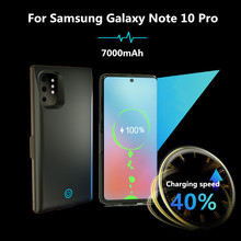 Portable For Samsung Galaxy Note 10 Pro External Power Bank Charger Battery Cover 7000mAh Ultrathin Case