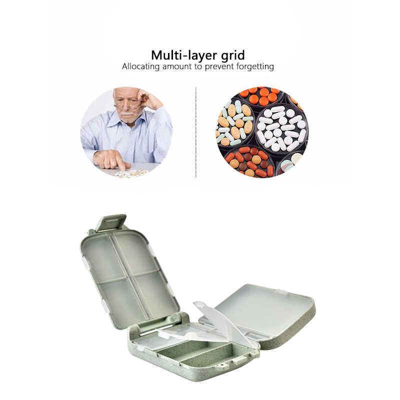 6.5x10x3.5cm vano kit da viaggio cannucce pillole medicina storage separazione cura strumenti di vendita calda