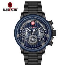 2019 Sport Watch Men Luxury Quartz TOP Brand KADEMAN Full Steel Military Wristwatch Business Male Clocks Relogio Masculino
