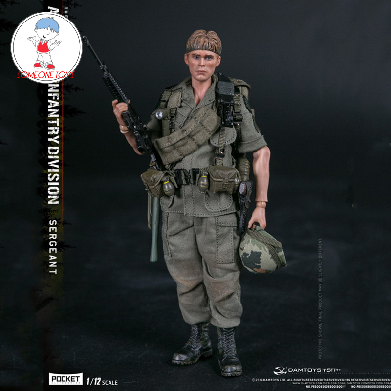 DAMTOYS PES005 1/12 ARMY 25th Infantry Division Private SERGEANT POCKET ELITE SERIES Male Soldier Action Figure Model