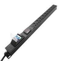 Cabinet Rack Installation Power Distribution Socket 8AC Universal socket Air Switch Current Voltmeter Lightning Protection