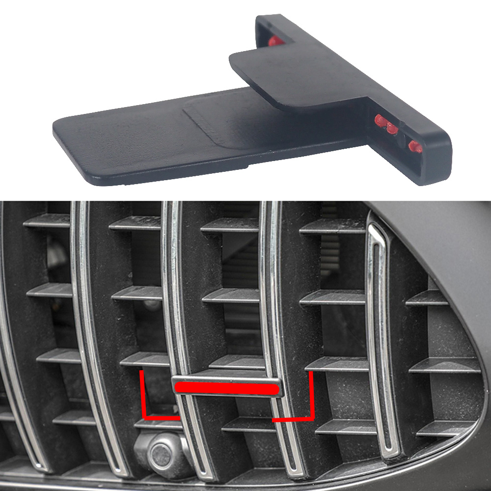 1-20 Pcs Red For AMG Emblem Front Grill Logo Sticker Decor Cover For Mercedes Benz GT C63 GLC S R C G Class Accessories