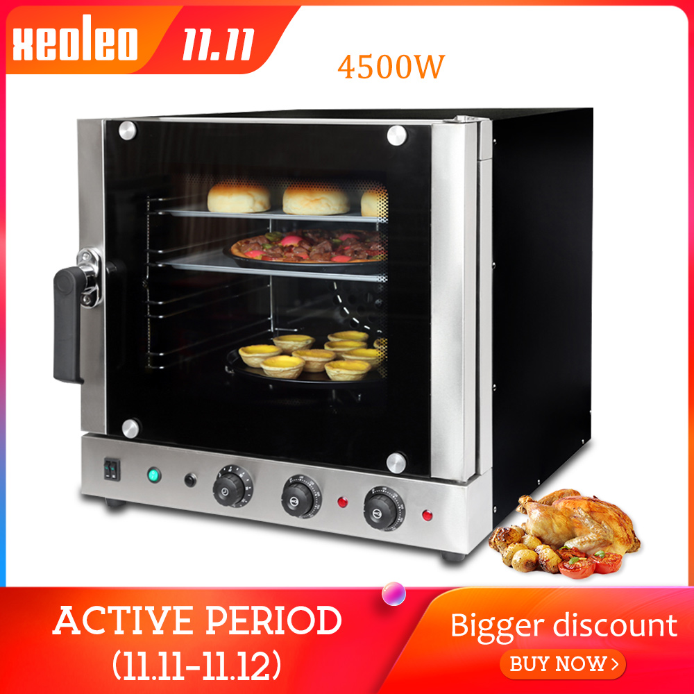 XEOLEO Convection Oven Bread Baking Machine Commercial Bread Oven Electric Oven For Baking Bakery Equipment Spray Function 4500W