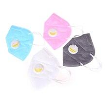 Хлопок PM2.5 противопылевая маска одноразовый дыхательный клапан Анти-пыль рот маска фильтр с активированным углем респиратор Рот-защитная маска