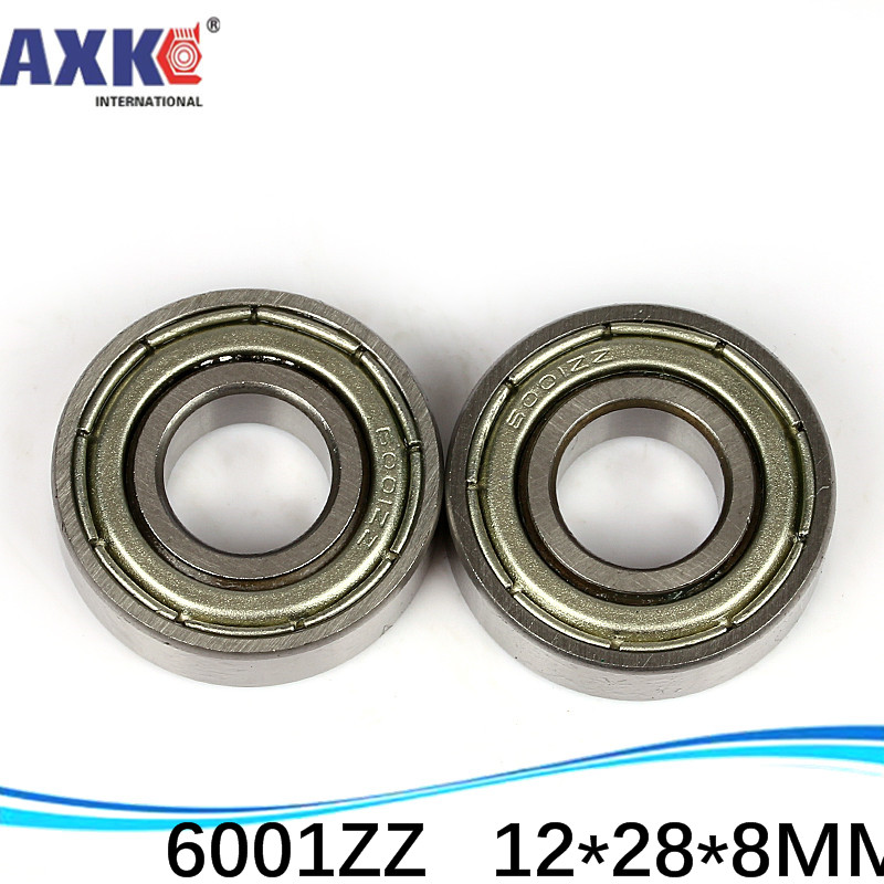 S6001-2RS 12x28x8mm ABEC3 Thin-wall Deep Groove Ball Bearing Stainless Steel
