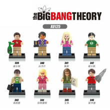 X0125 Bricks The Big Bang Theory TBBT Sheldon Leonard Penny Howard Action Figures Building Blocks Toys for Children 16024 534pcs ideas movie series the big bang theory building blocks bricks toys compatible with legoings 21302