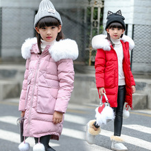 Girls Warm winter padded-cotton Coat fashion Long Kids Hooded Jacket coat for girl outerwear girls Clothes 4 6 8 9 15 years old thick winter children warm corduroy outerwear girls jacket kids faux fur collar hooded padded coat girl clothes 6 8 10 12 14 y