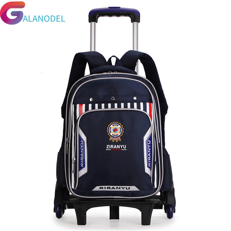 Wheels Removable Trolley School Backpack 2/6/big Capacity Children School Bags Boys Kids Detachable Mochilas Escolares