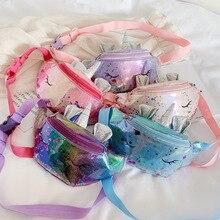 Girls Mermaid Chest Bag Kids Sequin Waist Fashion Fanny Pack Children Unicorn Outdoor Travel Pocket Phone Pouch