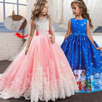 2018 Vestidos De Noche Para Niños Azul Mariposa Flor Chica