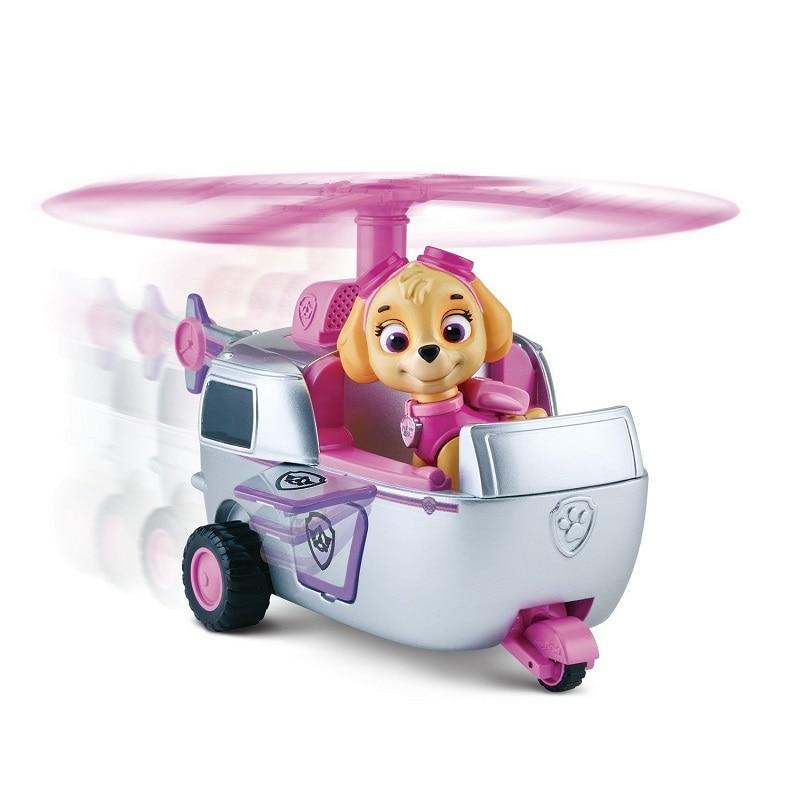 С принтом из мультфильма «Щенячий патруль набор игрушек для Everest трекер фигурку собаки из мультфильма «Щенячий патруль» для дня рождения с рисунком из аниме Рисунок патруль Paw patrulla canina, игрушка в подарок - Цвет: skye