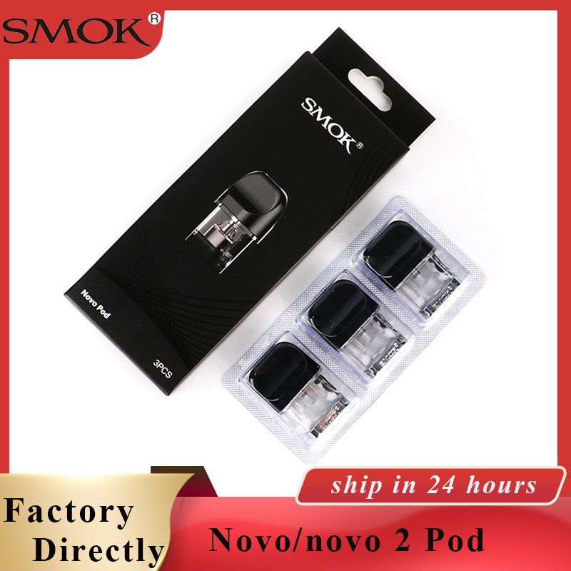 3 unidades/pacote Original SMOK Novo pod Pod 2ml vape Atomizador Cigarro Eletrônico Vape para Novo/novo kit 2 VS Infinix acessórios Vape