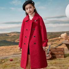 Children Woolen Cloth Long Jackets For 7 To 14 Years Girls Winter Warm Thick Overcoats Kids Little Princess Coats Outerwear
