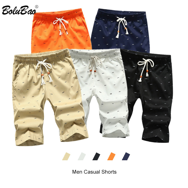 BOLUBAO Summer New Men's Casual Short Men Fashion Slim Beach Short Brand Quality Printing Shorts Male