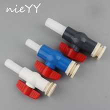 1/2 3/4 ABS Fish Tank Pipe Joints 20/25mm Valve Aquarium Water Outlet Inlet Hose Connectors Tower Bucket Fittings