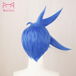 Image 4 - 【AniHut】Galo Thymos Wig PROMARE Burning Rescue Cosplay Blue Synthetic Heat Resistant Hair