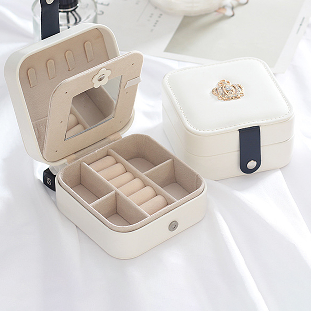 Dressing Table Earring Ring Durable Home Jewelry Organizer Display Box Traveling Magnetic Snap Desktop Ornament Separated