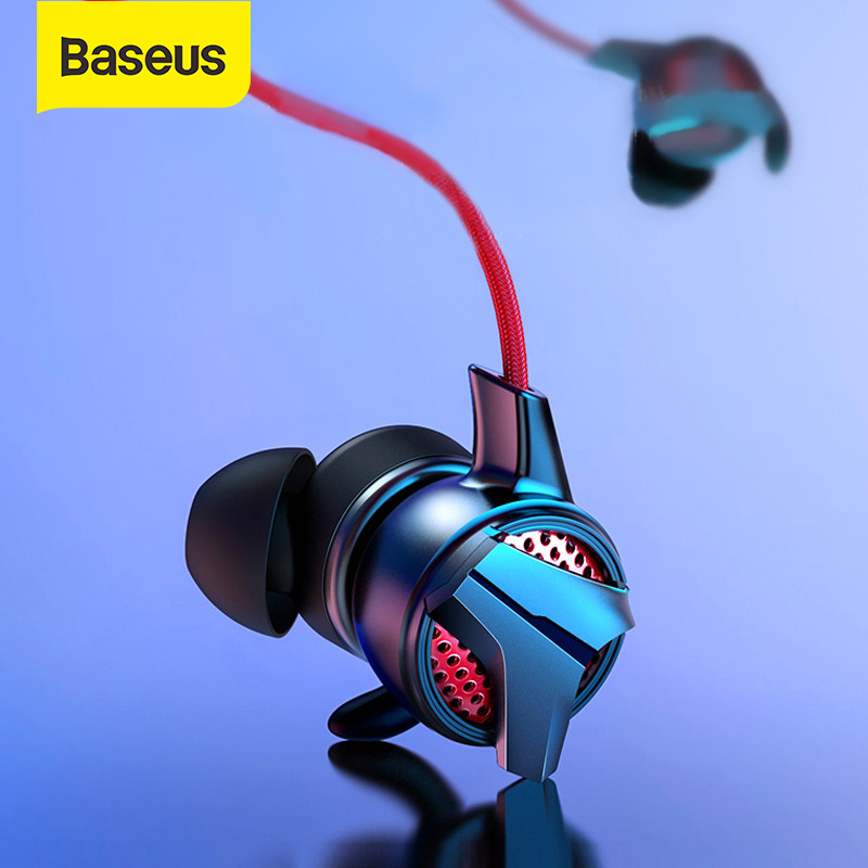 Baseus Wired Earphone In ear Music Stereo Earbuds for iPhone Samsung Xiaomi with Microphone Gaming Earphone for Phone Computer|Phone Earphones & Headphones| |  - AliExpress