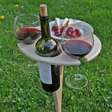Wine-Table-Holder Garden-Decoration-Accessories Wooden Picnic Outdoor Portable Desk Salon-De-Jardin