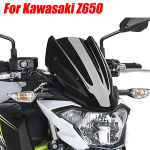 Motorcycle Accessories Sports WindScreen Windshield Viser VIsor Wind Deflectors Fits For Kawasaki Z650 2017 2018 2019 Z 650