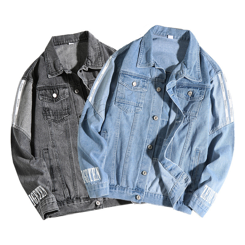 Jeans Jacket Men Baseball Jacket Blue Denim Fashion High Quality Anti-Shrink Jeans Hoodie Veste Homme Sweat Mode Hommes 2020 Win