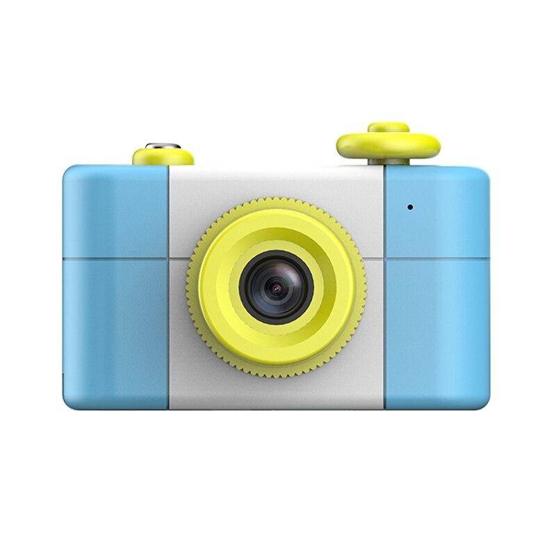 A10 Portable Kids Camera 1080P HD 1.5 Inch Screen Mini Kid Children Camera Cartoon Digital Small SLR Camera Toy Gift (Blue)