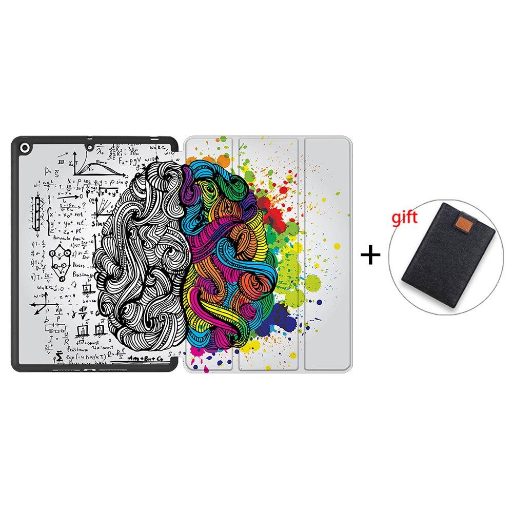 IPBC16 Khaki MTT Tablet Case For iPad 10 2 inch 7th 8th Generation 2020 Soft TPU PU Leather