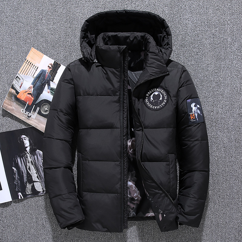 2019 New Men's Outdoor Down Jacket Hiking Cotton Clothing Thick Breathable Windproof Warm Sports Cotton Outdoor Down Jacket