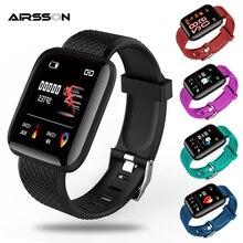116 Plus Smart Watch Men Women Wristband Heart Rate Blood Pressure Monitor Fitness Tracker Waterproof Sport Bracelet