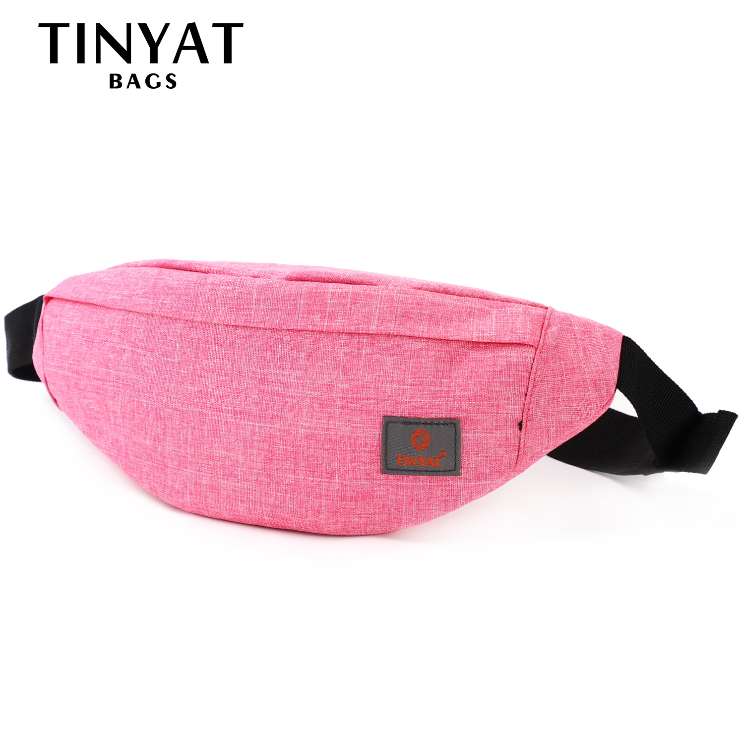 TINYAT Women Waist Bag Female Belt Bag Pack Girl Canvas Casual Fanny Pack Phone Mobile Money Fanny Bag Belt Bags Red(China)