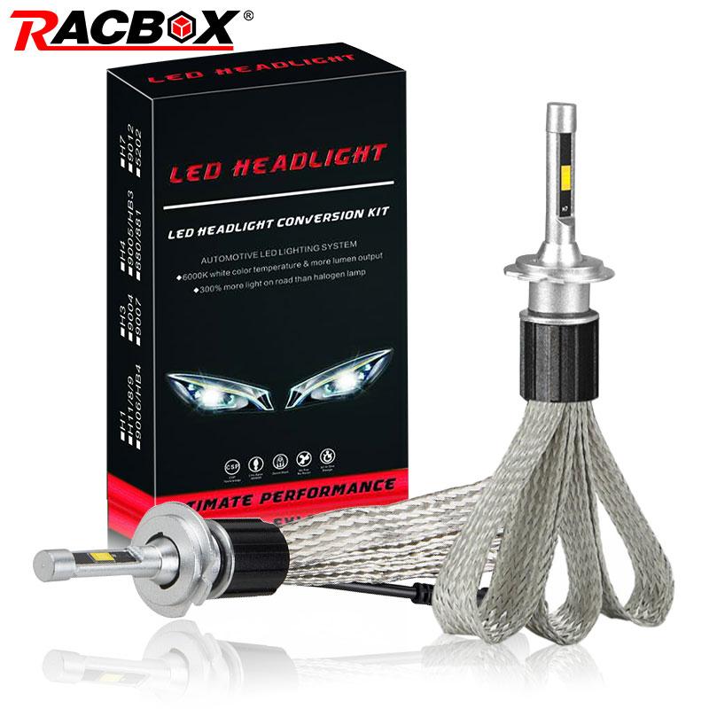 RACBOX Car LED Headlight Bulb Light Lamp Globe Copper Belt Style 72W 7000LM H1 H7 H8 H9 H11 9005 HB3 9006 HB4 H4 Hi Lo 12V 24V-in Car Headlight Bulbs(LED) from Automobiles & Motorcycles