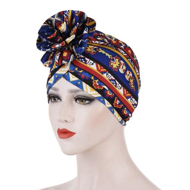 Helisopus хлопок дамы печатные повязки Кепка Chemo эластичный головной платок для женщин мусульманский тюрбан шапочки аксессуары для волос