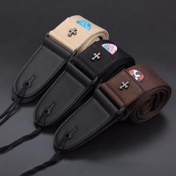 Ремінь для електрогітари акустичний ремінь для народних гітарних ремінців vintage хрестові ремінці для гітари з кишенею