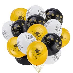 Image 4 - Graduation 2020 Latex Luftballons Hängen Congrats Banner Hängen Swirl Klasse Von 2020 Graduation Party Foto Hintergrund Dekorationen