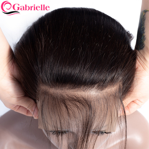 Gabrielle Hair Brazilian Straight 7x7 Closure Human Hair Lace Closure with Baby Hair Swiss Lace 8-22'' Natural Color Remy Hair