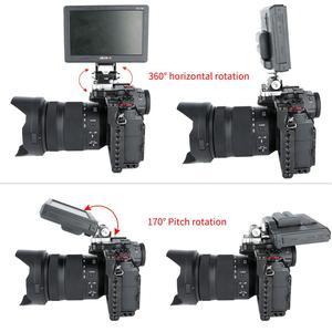 Image 4 - Niceyrig حامل شاشة دوار للكاميرا ، دوران 360 درجة وإمالة ، قابل للتعديل بزاوية 170 درجة