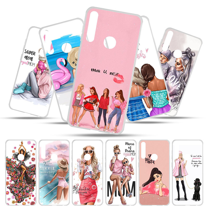 For UMIDIGI A5 Pro Case Silicone TPU Soft Phone Case for Umi Digi A5 Pro Case Back Cover for Umidigi A5 Pro Baby Mom Gril Bags